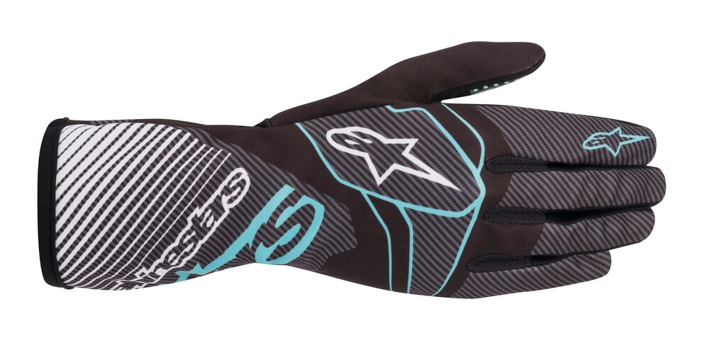Alpinestars Rukavice Tech 1-K Race V2 CARBON - Černo-mordé