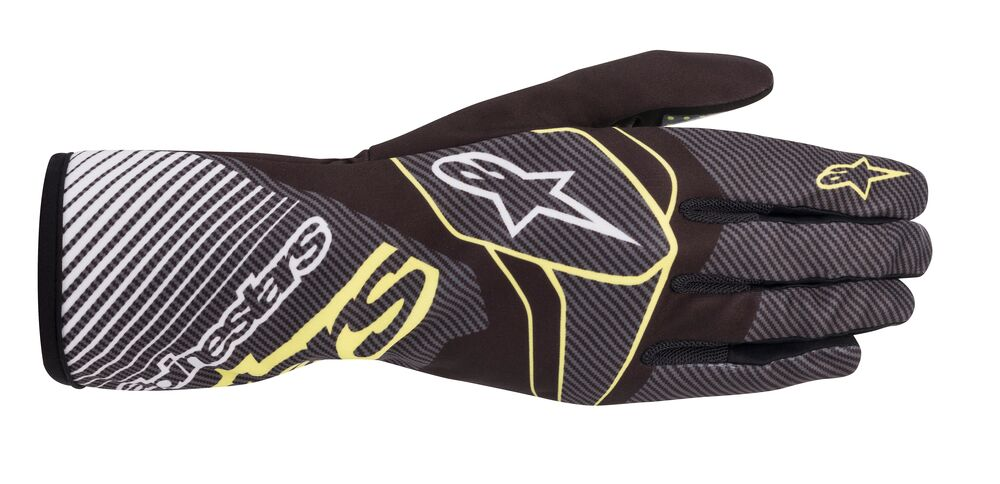 Alpinestars Rukavice Tech 1-K Race V2 CARBON - Černo-carbonové